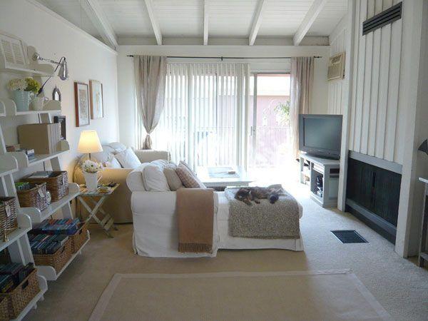baltas gyvenamojo kambario dizainas