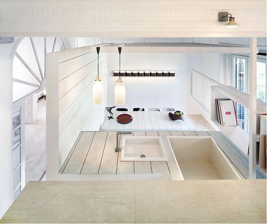 virtuvė ir valgomasis iš viršaus