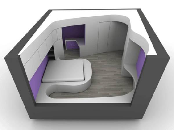 miegamojo kambario interjero vizualizacija