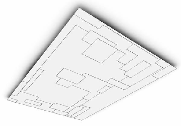 svetainės, valgomojo atviros erdvės lubų planas