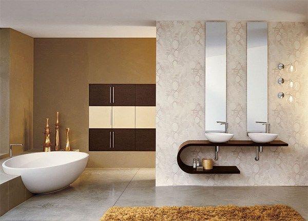 Vonios kambario siena apklijuota apmušalais