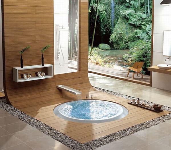 hidroterapinė vonia grindų lygyje