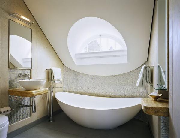 Apvalios formos vonios interjere