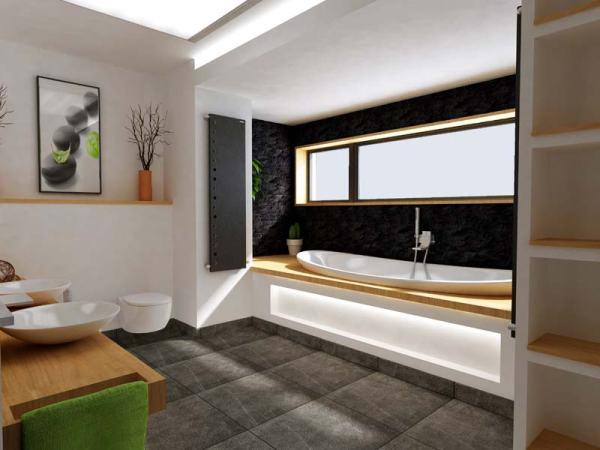 Vonios kambario interjero vizualizacija
