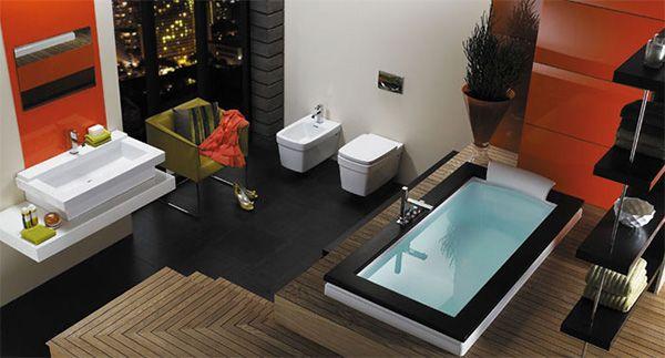 Stačiakampių formų vonios kambario įranga