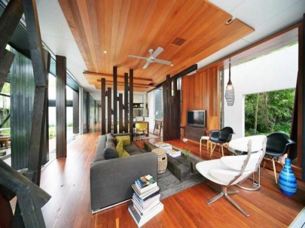 svetainės interjeras namas australijoje