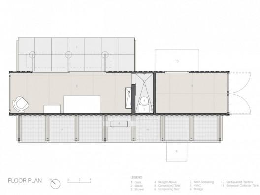 namas konteineris planas