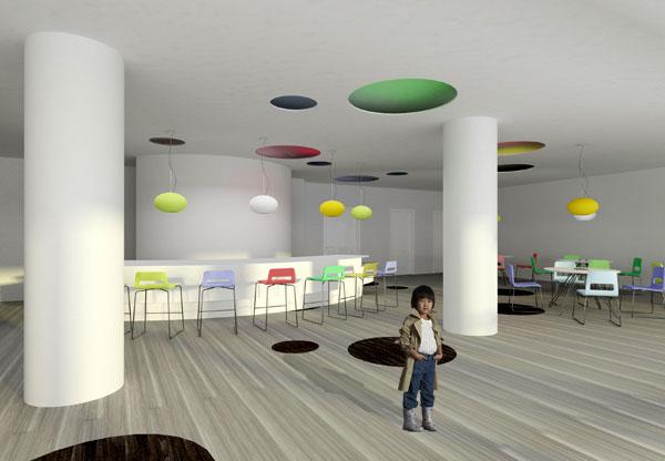 Vaiku kavine 2 (Lubose esancios kiaurymes yra tose paciose vietose kaip ir ant grindu issideste skrituliai)