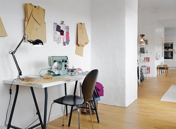siuvimui skirta erdvė namuose