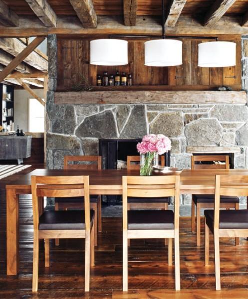 valgomasis stalas, akmeninė siena