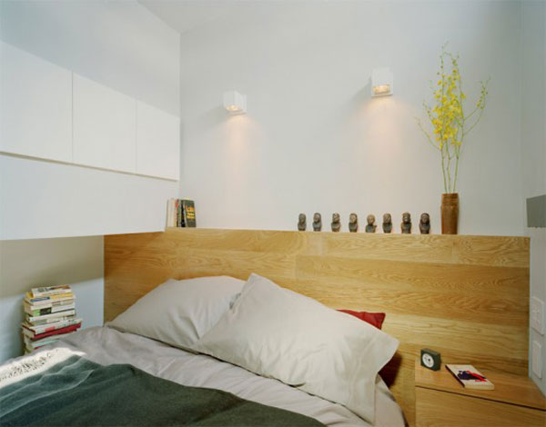miegamasis mažame bute - studijoje