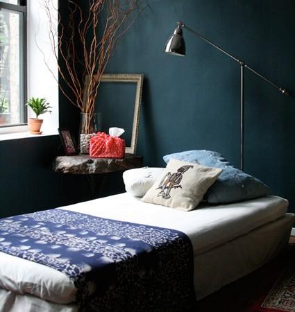 Miegamojo interjero dekoras vintažiškai