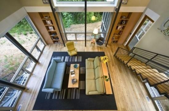 svetainės kambario vaizdas iš viršaus