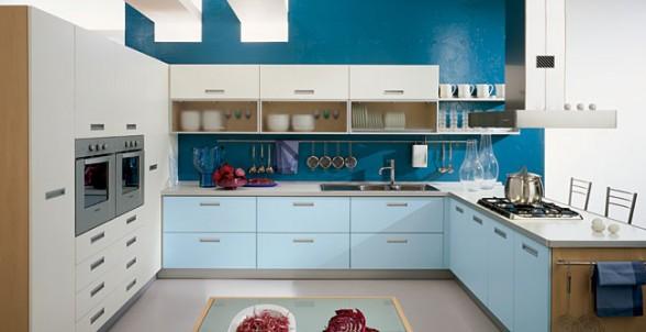mėlyna spalva virtuvės interjere 9