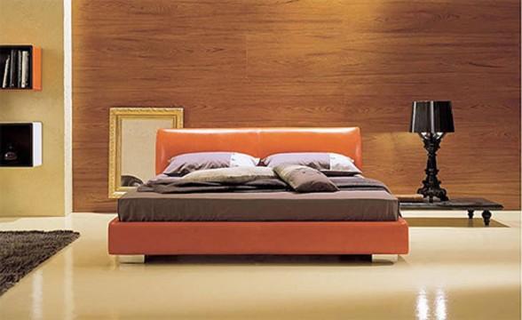 oranžinė lova