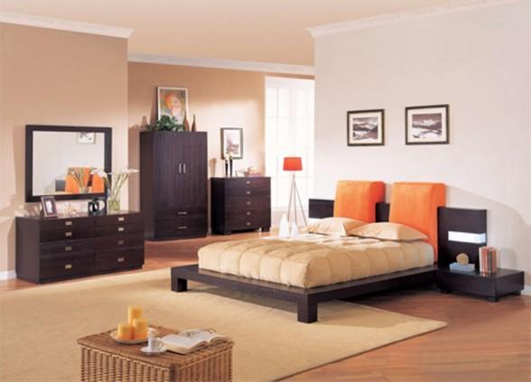 Oranžinės lovos pagalvėlės