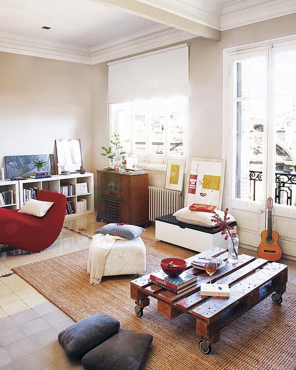 svetainės kambarys name Barselonoje