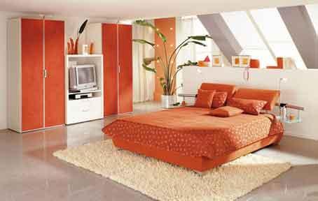 oranžinis miegamasis