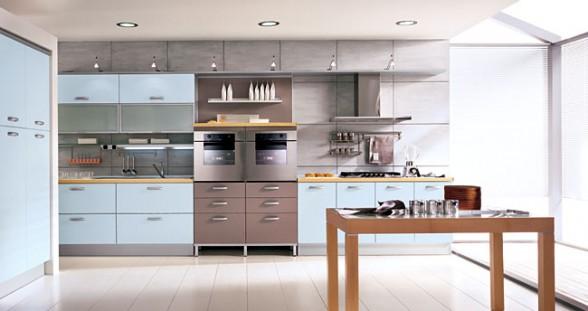 mėlyna spalva virtuvės interjere 4