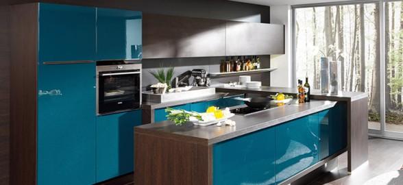 mėlyna spalva virtuvės interjere 3