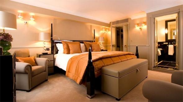 oranžiniai lovos užtiesalai