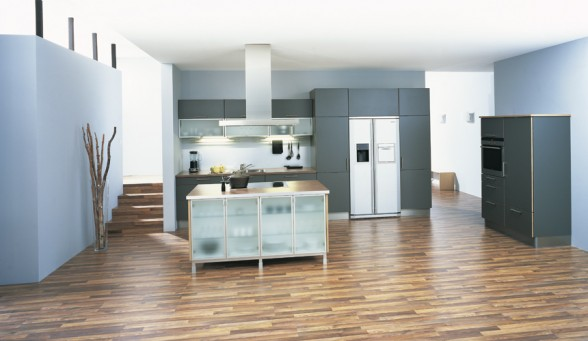 mėlyna spalva virtuvės interjere 2