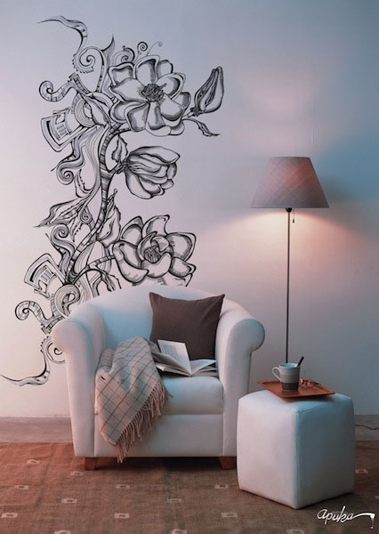 Apuka sienos dekoras 01