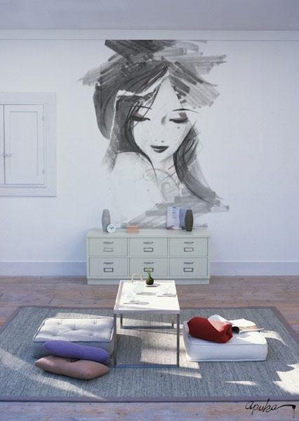 Apuka sienos tapyba 03