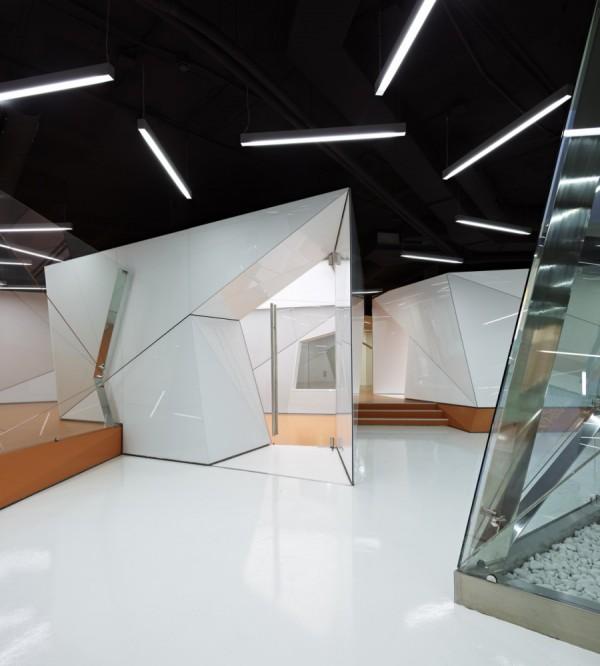 IT biuras, kabinetas, lubų dizainas