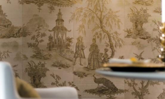 puikios keramikos plytelės, panašios į tapetus 8