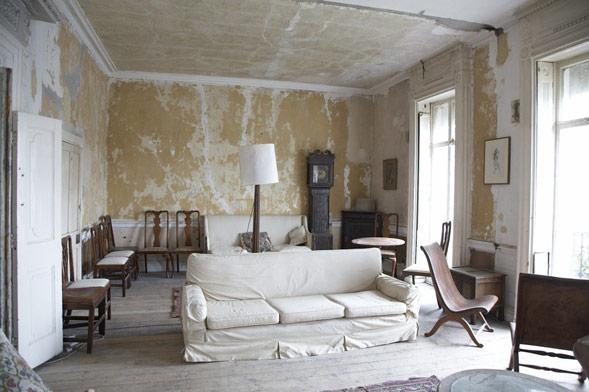 kitokia sienų, lubų apdaila interjere