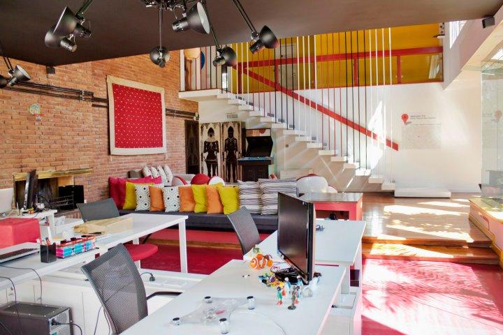 biuro interjeras, pagrindinė patalpa