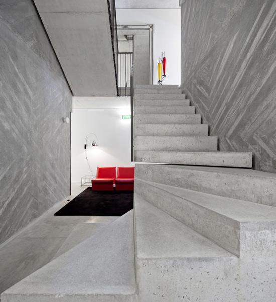 viešbučio laiptai