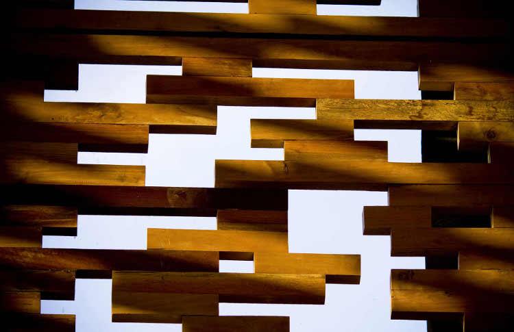 vila, medinės sienos fragmentas
