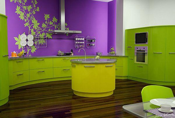žalios spalvos atspalviai virtuvės interjero dizainui11