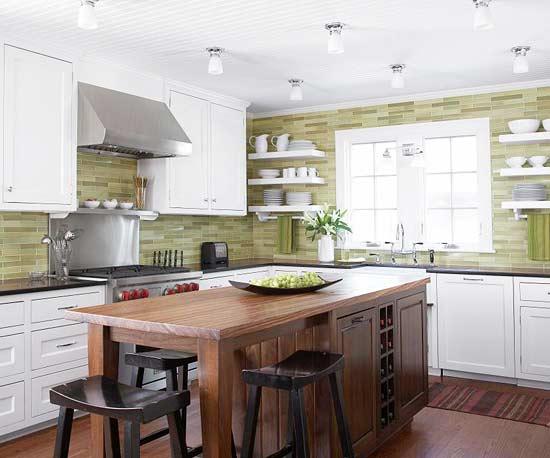 žalios spalvos atspalviai virtuvės interjero dizainui14