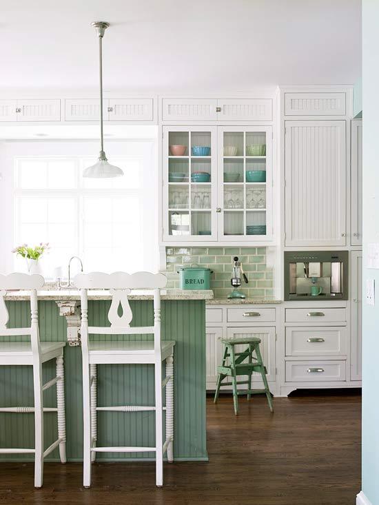 žalios spalvos atspalviai virtuvės interjero dizainui13