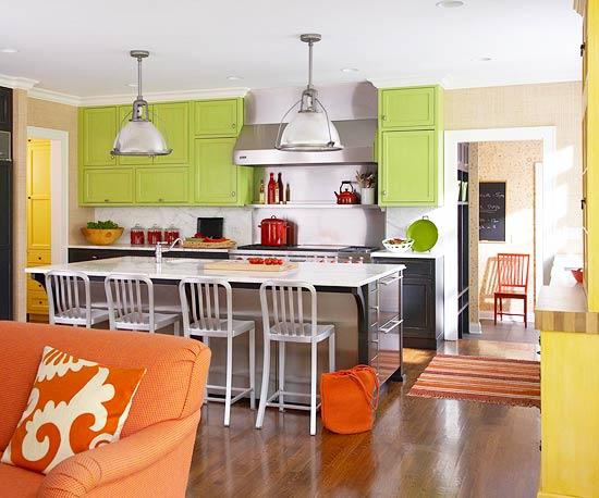 žalios spalvos atspalviai virtuvės interjero dizainui7