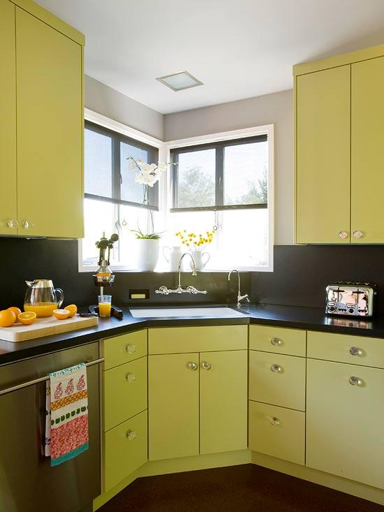žalios spalvos atspalviai virtuvės interjero dizainui2