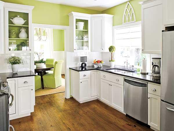 žalios spalvos atspalviai virtuvės interjero dizainui5