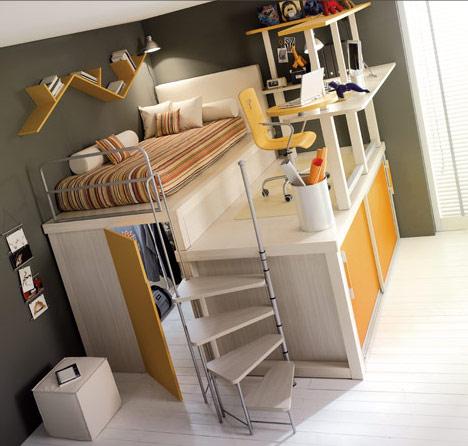 išradingas erdvės išnaudojimas vaiko ar paauglio kambaryje 8