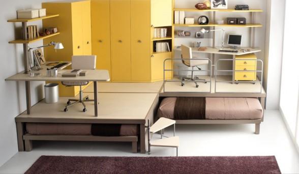 išradingas erdvės išnaudojimas vaiko ar paauglio kambaryje 5
