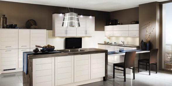 virtuvės dizainas, juoda balta nuotrauka, mėlyna spalva