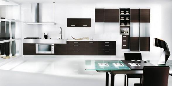 virtuvės dizainas, juoda balta nuotrauka, cianio melsva