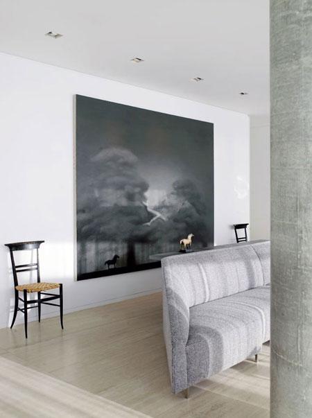 paveikslas, kėdės, sofa kambaryje