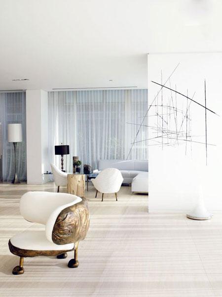 baldai, linijų abstrakcija svetainės kambaryje