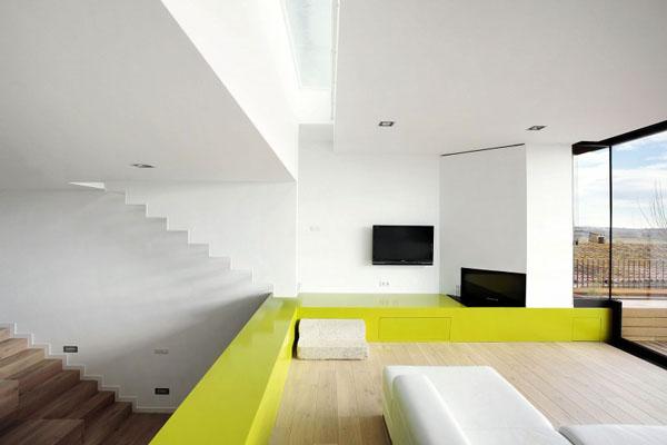Terasinis namas, svetainės erdvė