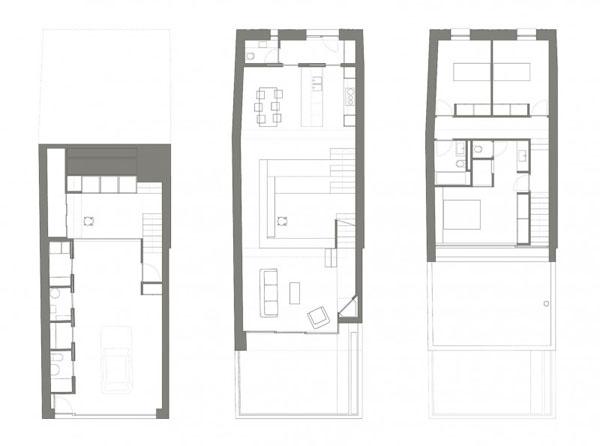 Terasinis namas, planai