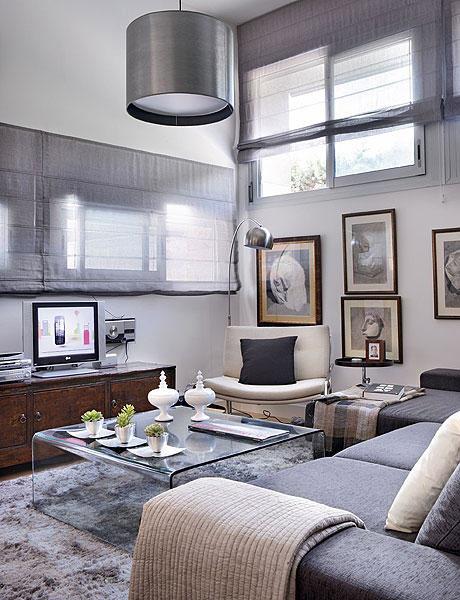 48 m2 buto interjeras, svetainė 1