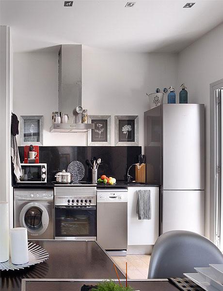 48 m2 buto interjeras, virtuvė